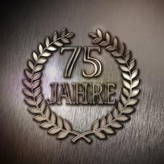 75 Jahre-Lorbeer-Metall D