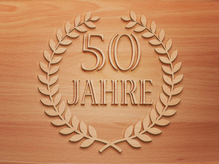 50 Jahre - Lorbeer - Holz H