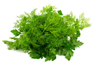 fresh dill and parsley