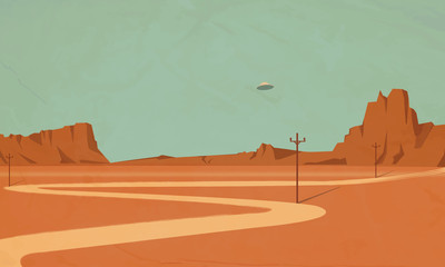 Wall Murals Olive ufo the Grand Canyon