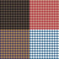 Houndstooth Seamless Patterns Set
