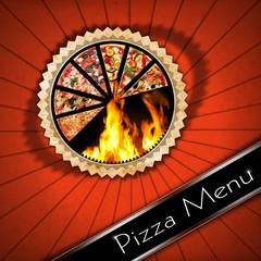 Pizza - Vintage Menu Design