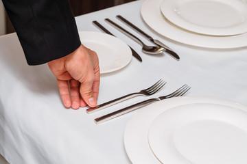 Man holding fork