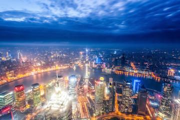 magic city of shanghai at night