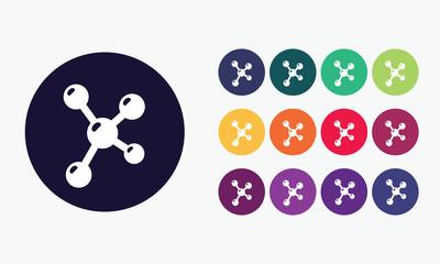 Molecule science icon.Science symbol.
