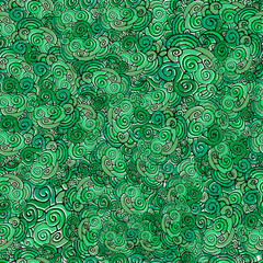 Seamless pattern Vector green clover background for St. Patrick