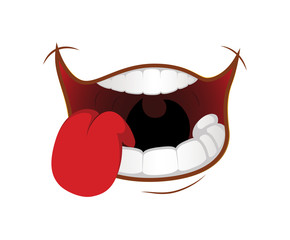 Greedy Cartoon Mouth Expression