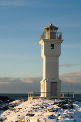 Old Concrete Lighthouse in Akranes in Iceland