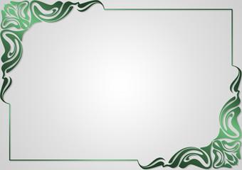 Frame for design greeting cards .