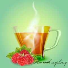 Tea with raspberry