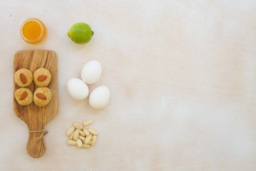 Fotobehang Fitness biscuits and its ingredients
