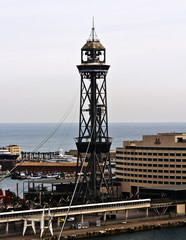 Tower cableway in Port  is a main attraction in Barcelona.