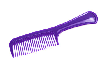 purple plastic comb