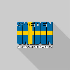 Sweden flag typography, t-shirt graphics
