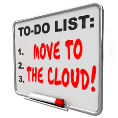Move to the Cloud Words Message Board Internet Online Based Serv