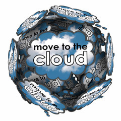 Move to the Cloud Thought Bubbles Idea Plan Online Software Serv