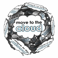 Move to Cloud Words Thoughts Ideas Plan Online Shift Servers