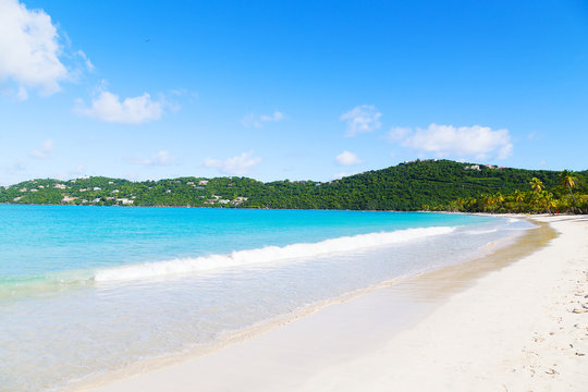 Spectacular Magens Bay beach on St Thomas Island, US VI.