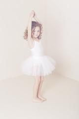 Young ballerina dancing