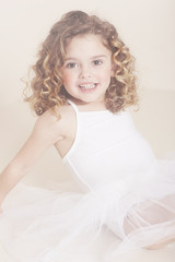 Young ballerina smiling