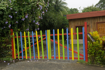 barrière colorée - Costa Rica