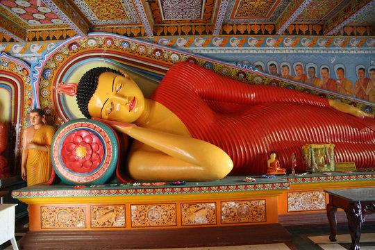 Buddha statue in the Isurumuniya temple, Srli Lanka