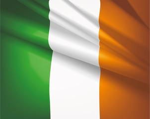 Flag of Ireland, vector background