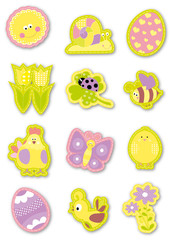 Easter decoration elements collection / vectors