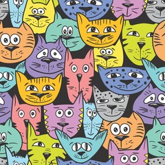 Vector cat pattern