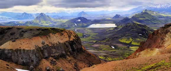 Colored mountains in Iceland