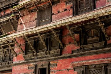 Detail of Nepal buildings