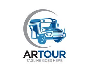 Bus Car and Truck Logo Vector
