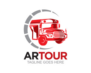 Bus Car and Truck Logo Vector