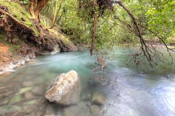 Rio Celeste im Regenwald von Costa Rica