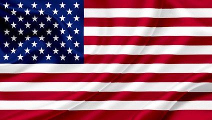 United States of America waving flag