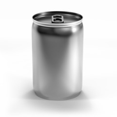 isolated beverage aluminium can isolated on white background
