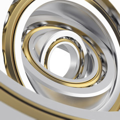 realistic whirling bearing in the bearing with light scratches