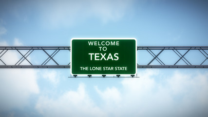 Texas USA State Welcome to Highway Road Sign
