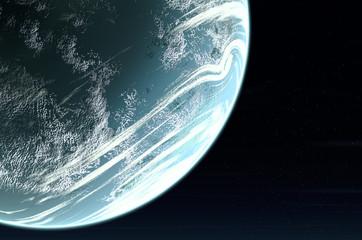 planet close up