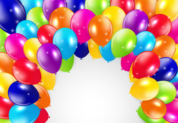 Glossy Balloons Background Vector Illustration