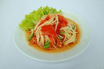 Thai-style spicy papaya salad