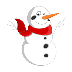 Happy Snowman Character