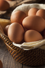 Raw Organic Brown Eggs