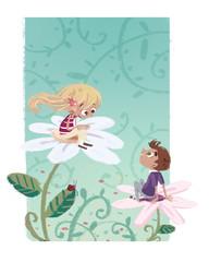 niños en Primavera