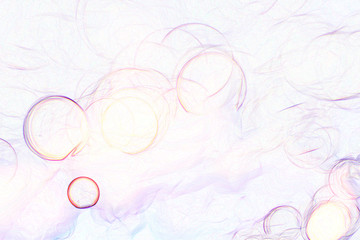 bright white background blur bright colorful bokeh circles