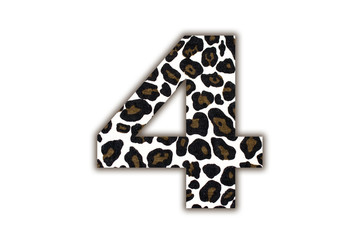 font with pattern leopard