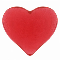 Red heart of glass