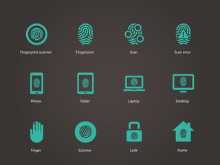 Fingerprint icons.