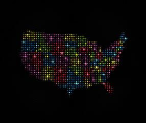 Stars USA Map 1