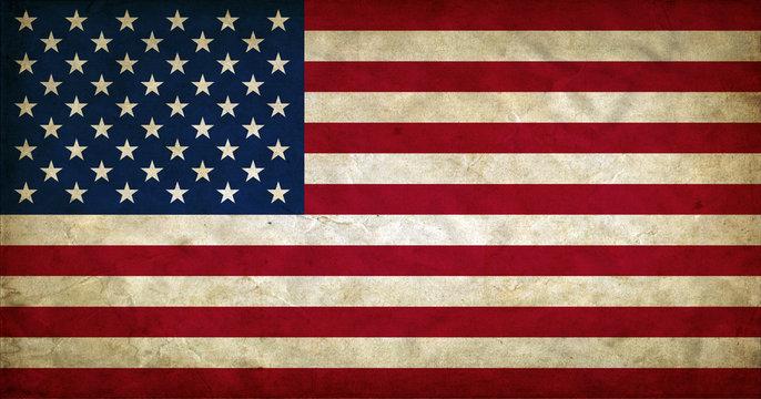 United States of America grunge flag